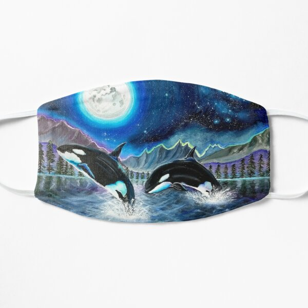 Orca Whale Moonscape Mask