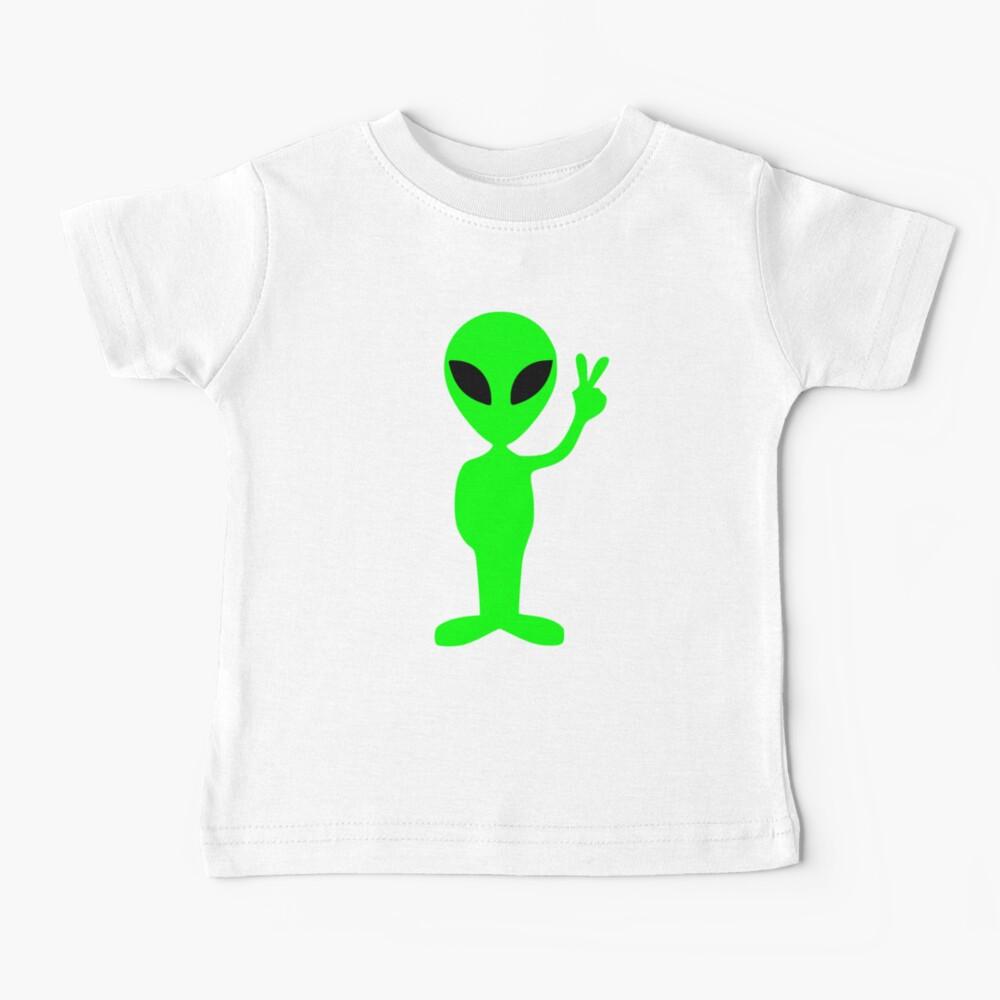 peace sign alien cute  Baby T-Shirt