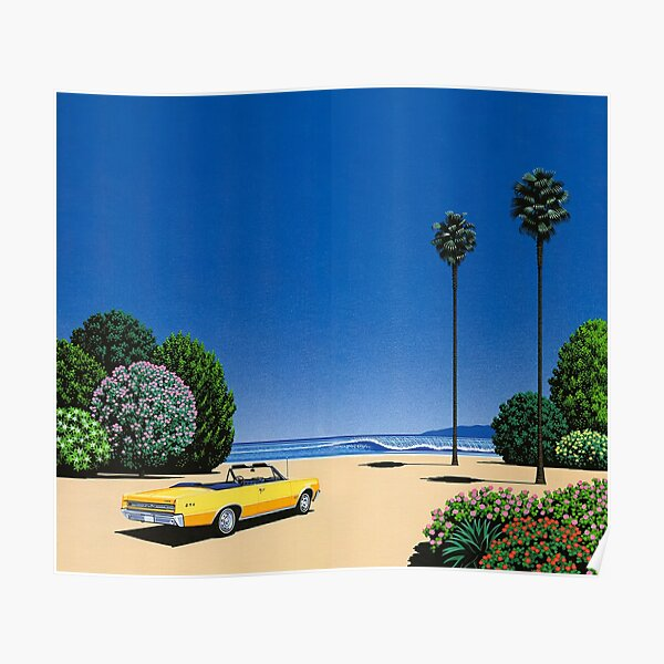 Hiroshi Nagai Art Print affiche Vaporwave esthétique papier peint T-Shirt Poster
