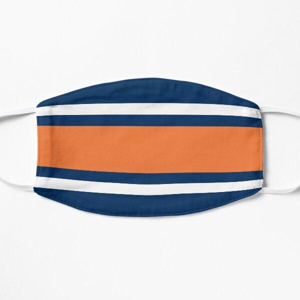 Navy, White, & Orange Power Stripe Flat Mask