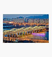 Hangang bridge, Seoul Photographic Print