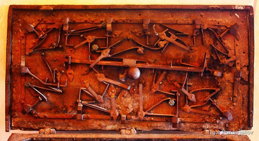 Chest's Lock Mechanism. Portofino, Italy 2012 by Igor Pozdnyakov