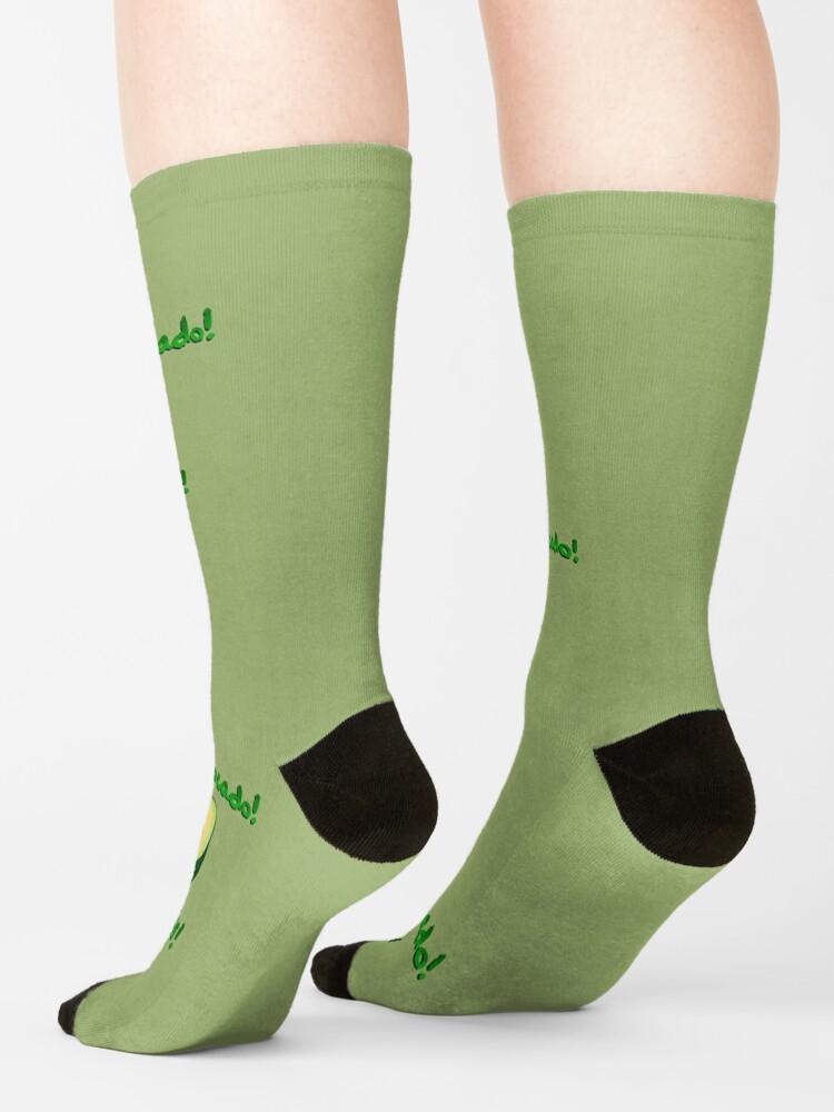 Alternate view of It's an Avocado! ...Thanks! - Vine Design Socks
