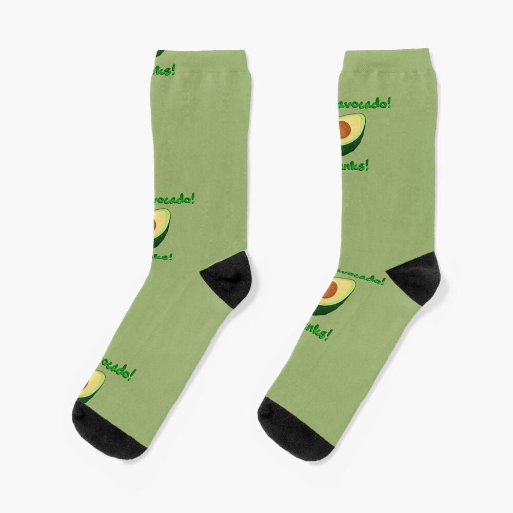 It's an Avocado! ...Thanks! - Vine Design Socks