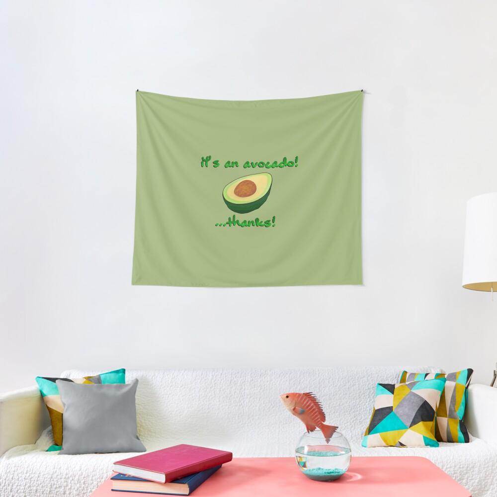 It's an Avocado! ...Thanks! - Vine Design Tapestry