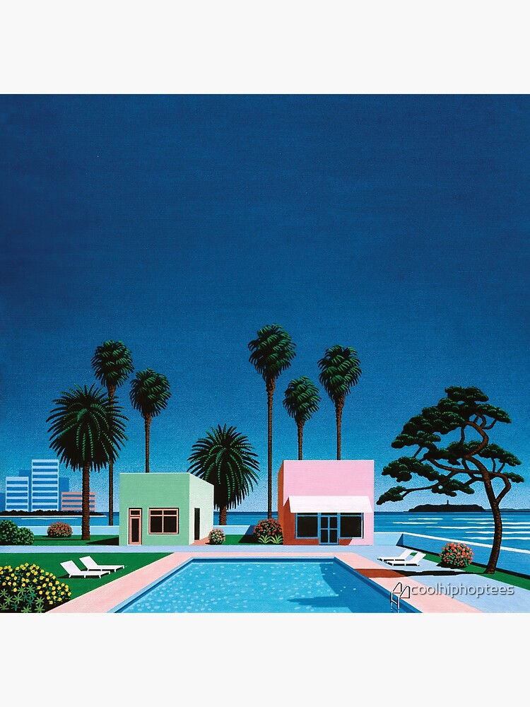 Hiroshi Nagai Art Print Poster Vaporwave Aesthetic Wallpaper T-Shirt by coolhiphoptees