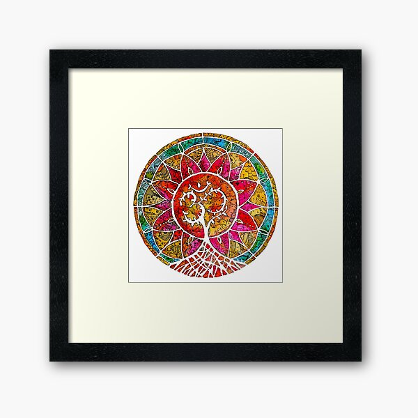 Tree of Life Mandala Framed Art Print