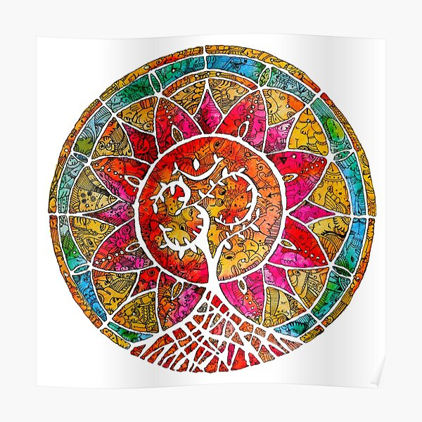 Tree of Life Mandala Poster