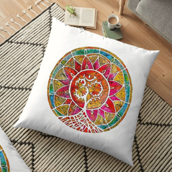 Tree of Life Mandala Floor Pillow