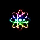 Colorful Glow Atomic Symbol by houk