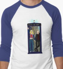 Nine and Rose Meet the Universe Men's Baseball ¾ T-Shirt