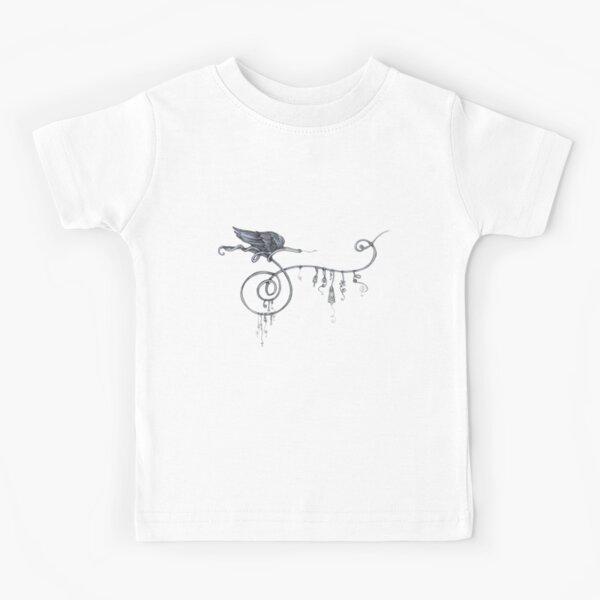 Blue Butterfly Kids T-Shirt