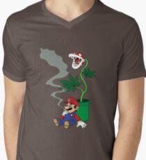 Super Pothead Mario Men's V-Neck T-Shirt