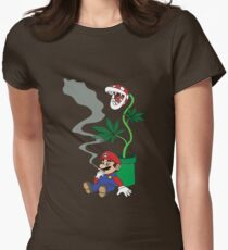Super Pothead Mario Women's Fitted T-Shirt