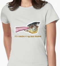It's a chicken or egg kinda situation Women's Fitted T-Shirt
