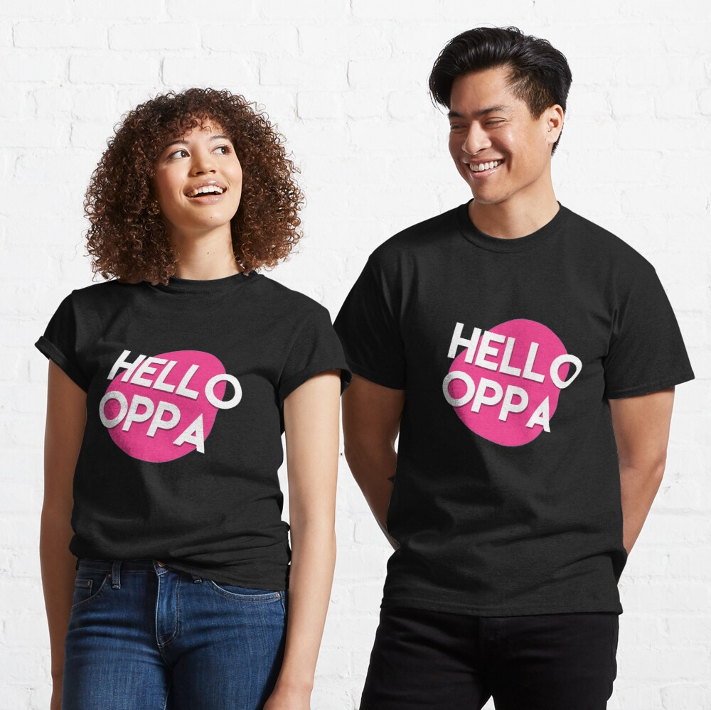 Hello oppa cute graphic Classic T-Shirt