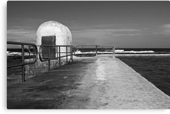 Merewether Baths pumphouse by Timothy John Keegan