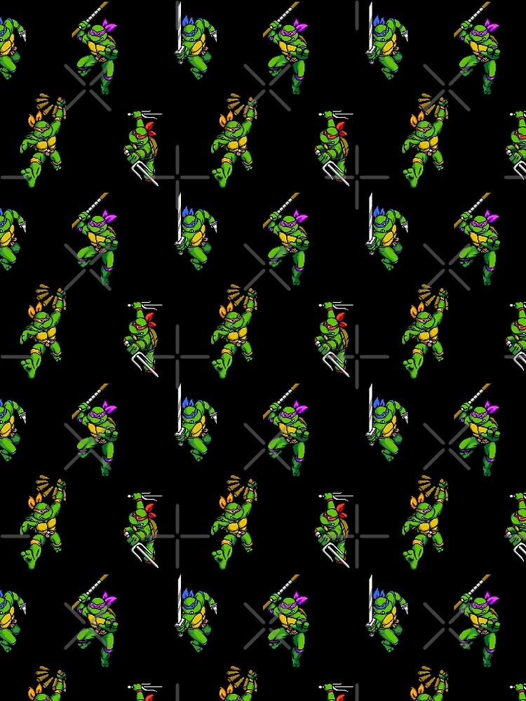 tmnt sprites pattern  by wil2liam4