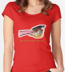 Not your average fish finger Women's Fitted Scoop T-Shirt