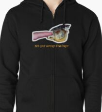 Not your average fish finger Zipped Hoodie
