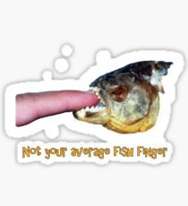 Not your average fish finger Sticker