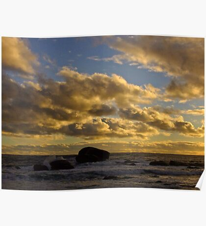 As the sun drops - Redgate, Western Australia Poster