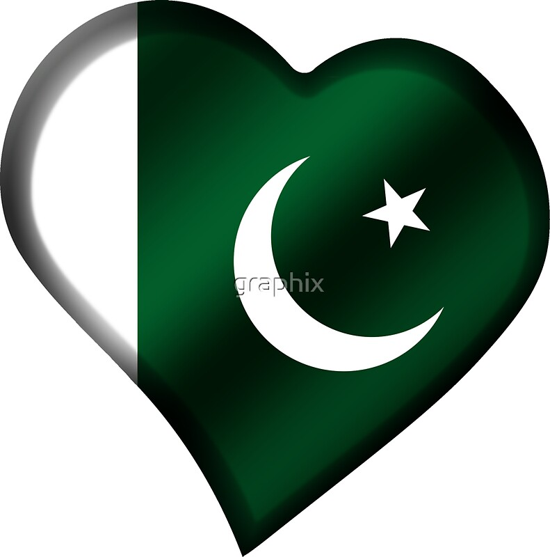 Pakistani flag pakistan heart by graphix