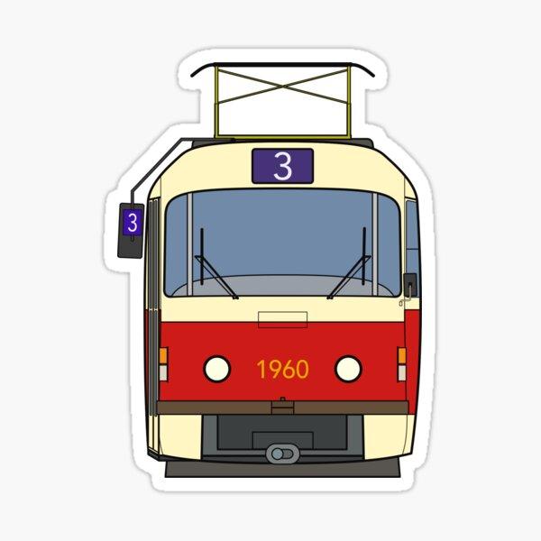 Prague Tram (T3) Sticker