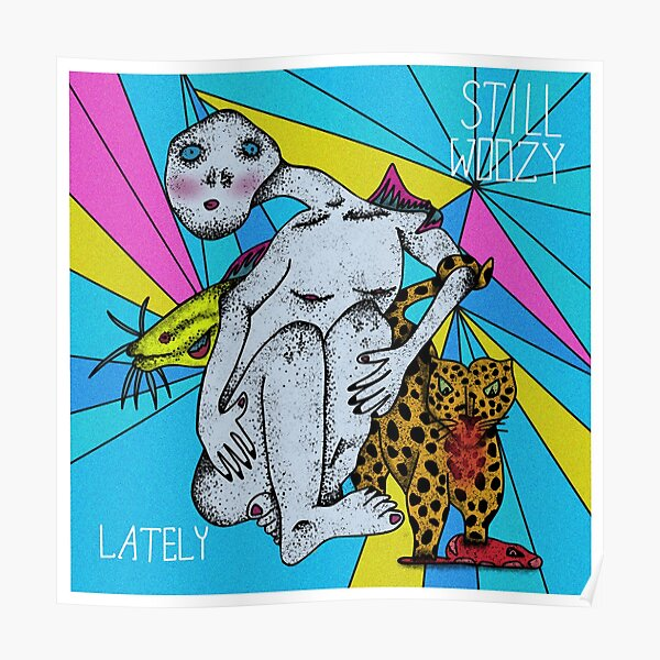 Doodle de la portada del álbum Still Woozy Póster