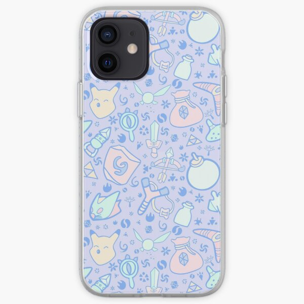 Zelda Doodlez (Blue Pastel ver.) iPhone Soft Case