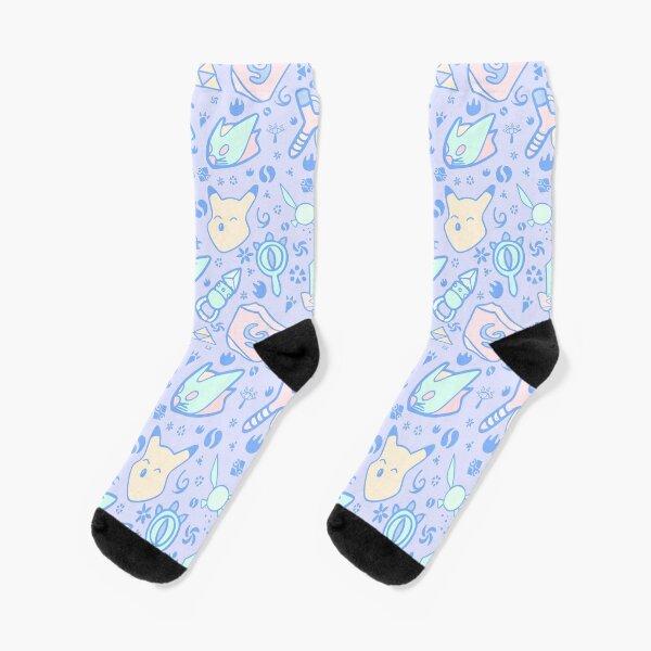 Zelda Doodlez (Blue Pastel ver.) Socks
