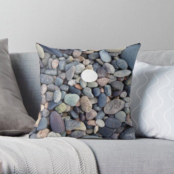 Seeleys Cove Beach Stones #4, New Brunswick Throw Pillow