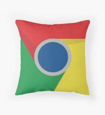 Google Chrome Logo Throw Pillow
