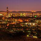 Pretoria CBD at night. by Rudi Venter