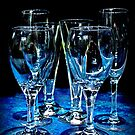 Battered Pub Glasses in Blue by Ubernoobz