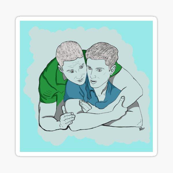 Tarlos - TK and Carlos - Relationship - Ronen Rubinstein & Rafael Silva Sticker