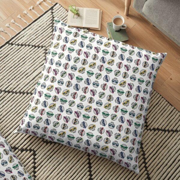 Fashionable Skulls Floor Pillow