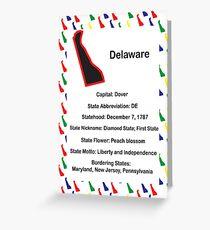 Delaware Information Educational Greeting Card