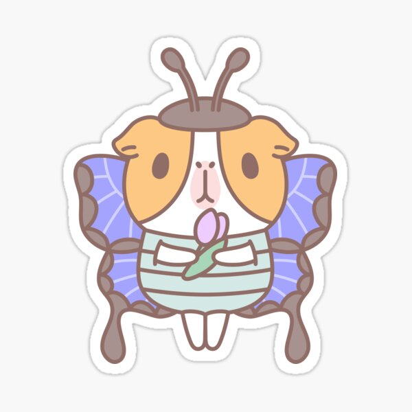 Guinea pig in Butterfly Costume  Sticker