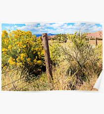 New Mexico Fence Poster