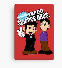 Super Science Bros. Canvas Print