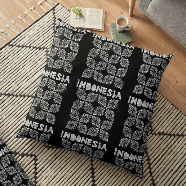 Indonesia Leaf Batik Design Floor Pillow