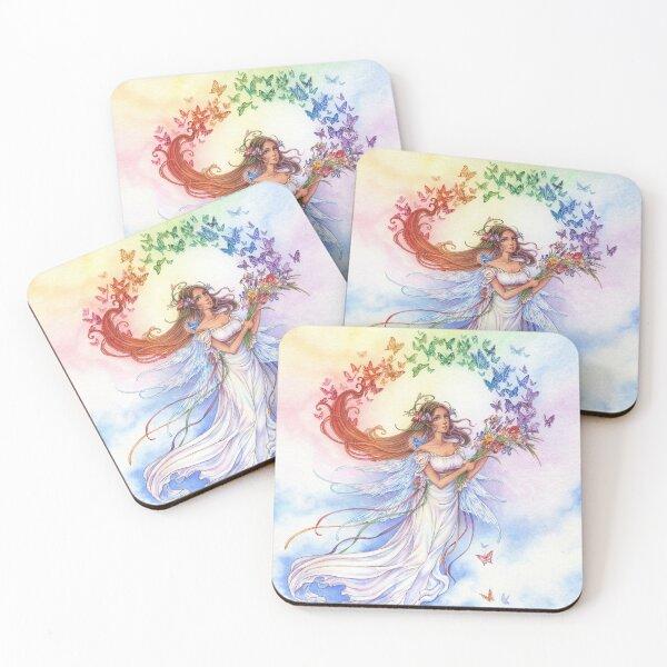 Iris of the Rainbow Fairy Coasters (Set of 4)