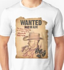 Cowboy Lance Hunter Wanted T-Shirt
