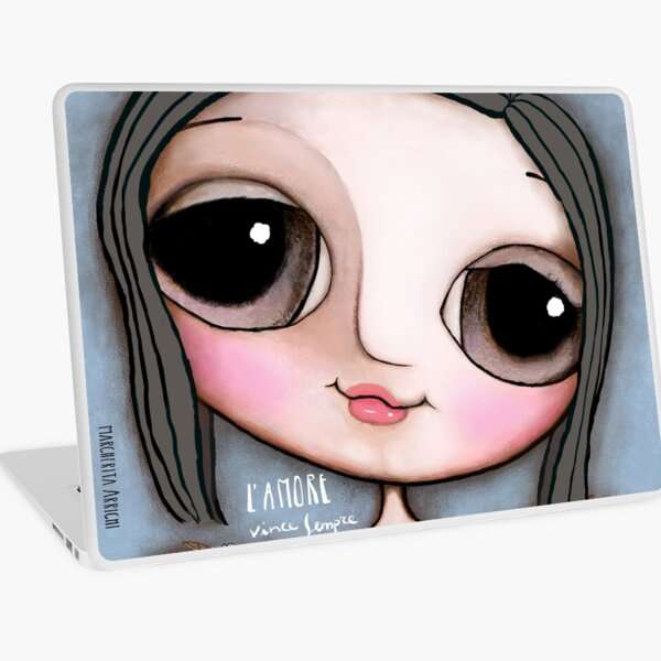 """Our Angel Maria Sole. """"L'Amore vince sempre"""" Laptop Skin"""