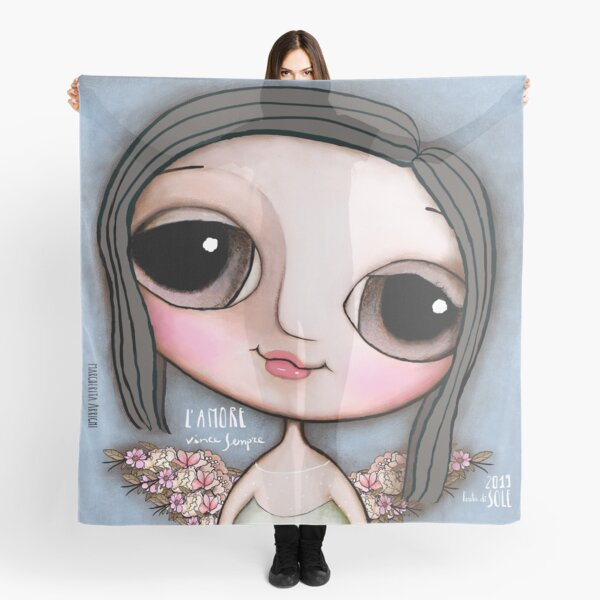 """Our Angel Maria Sole. """"L'Amore vince sempre"""" Scarf"""