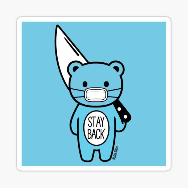 Stay Back Mood Bear Sticker