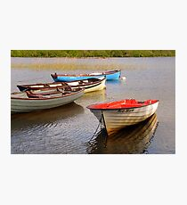 Fishing Boats In The Evening Sun Photographic Print