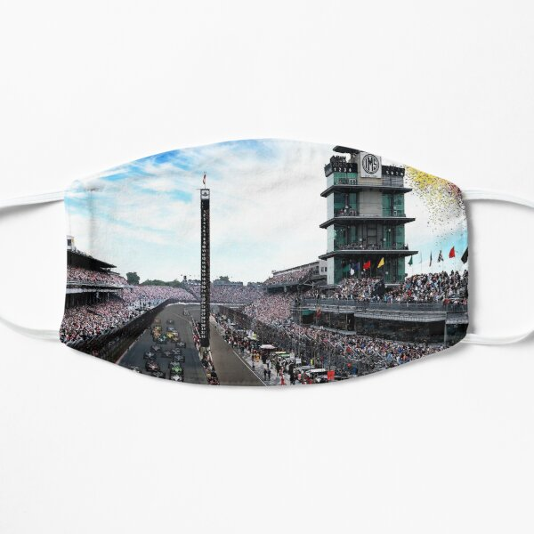 """Indianapolis 500 Start collage """"Back home again in Indiana"""" Mask"""