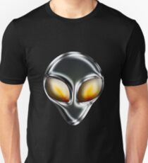Metal Alien Head Unisex T-Shirt